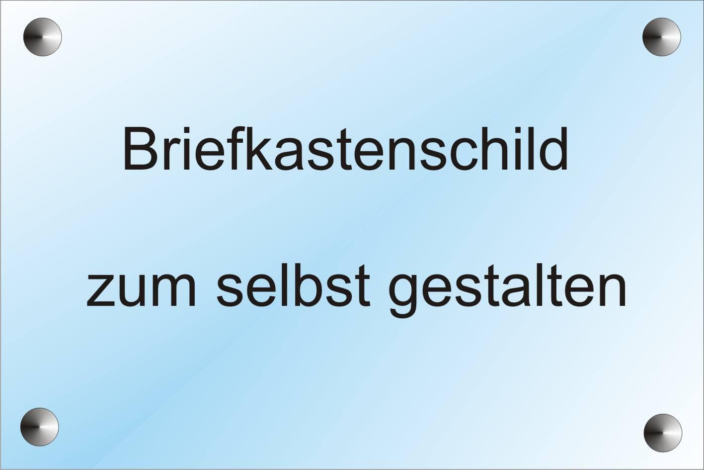 Universal Briefkastenschild Brild Druckvorlage Brild De 13
