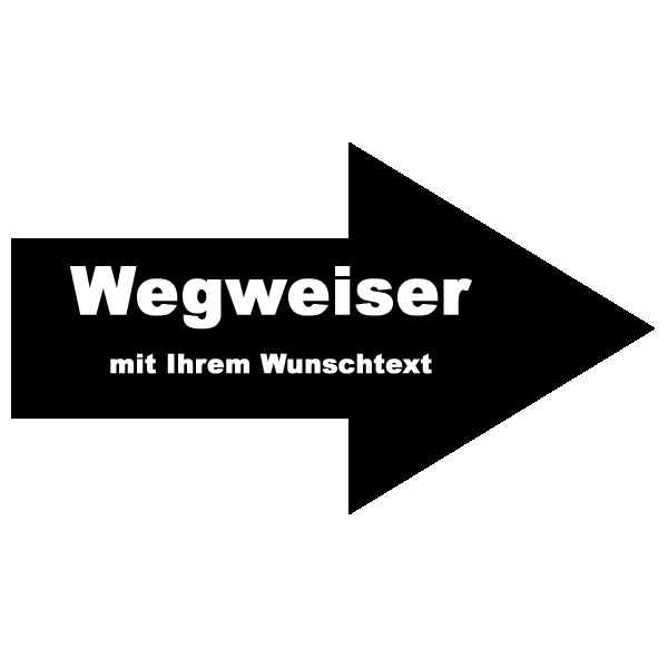 wegweiser pfeilschild vorlage 40x20 cm werbeschild 24 schilder. Black Bedroom Furniture Sets. Home Design Ideas