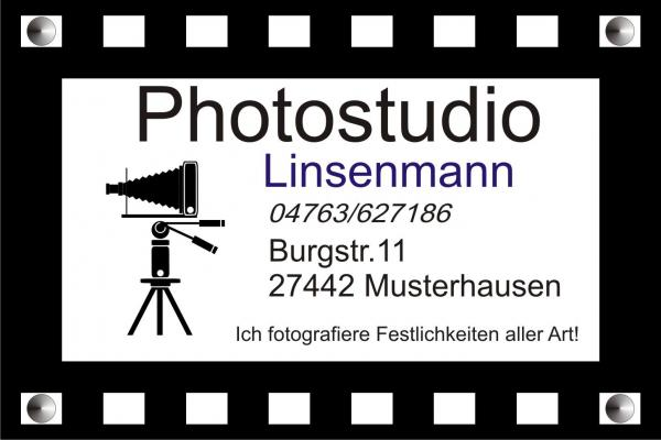 Photostudio Werbeschild